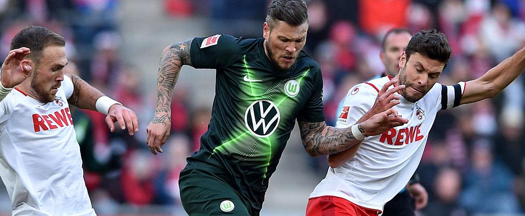 Wechselt Daniel Ginczek vom VfL Wolfsburg zum 1. FC Köln?