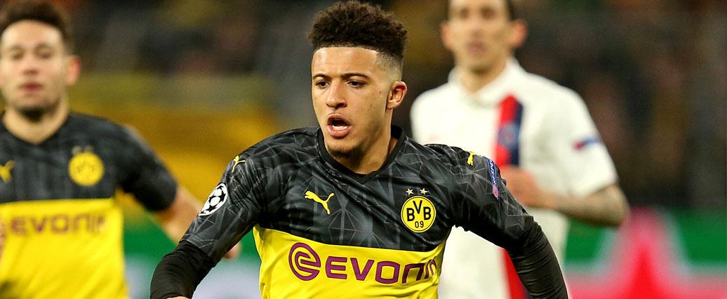 Borussia Dortmund: Jadon Sancho am Oberschenkel verletzt?
