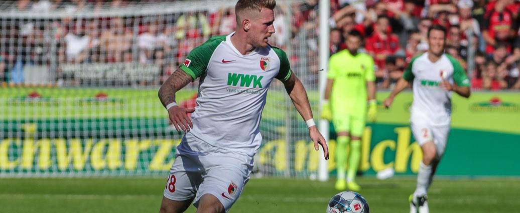 FC Augsburg: André Hahn nach Trainingspause wieder im Teamtraining