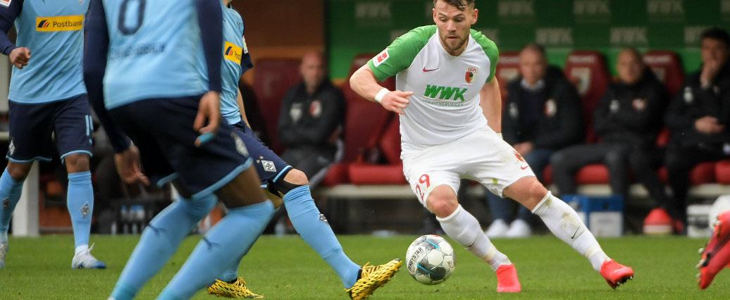 FC Augsburg: Eduard Löwen erst ab Montag wieder komplett belastbar