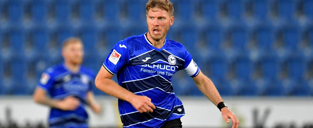Arminia Bielefeld: Fabian Klos muss verletzt raus