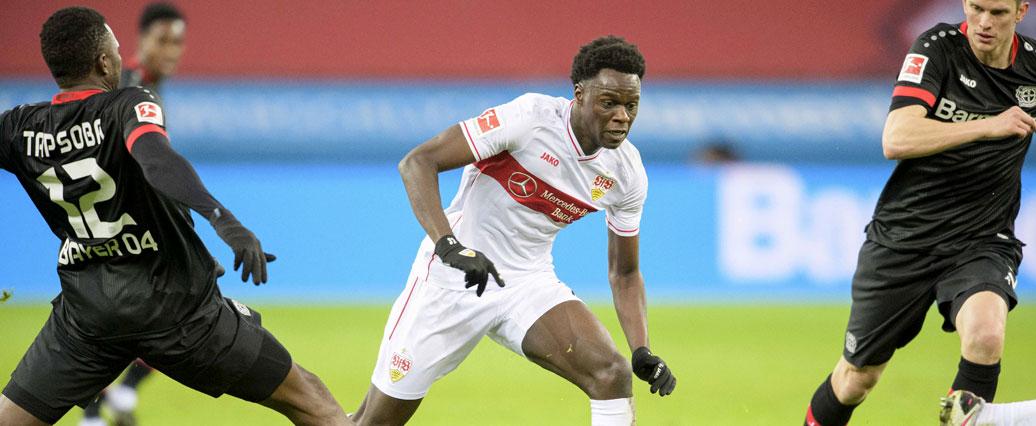 VfB Stuttgart: Naouirou Ahamada arbeitet wieder mit dem Ball am Fuß