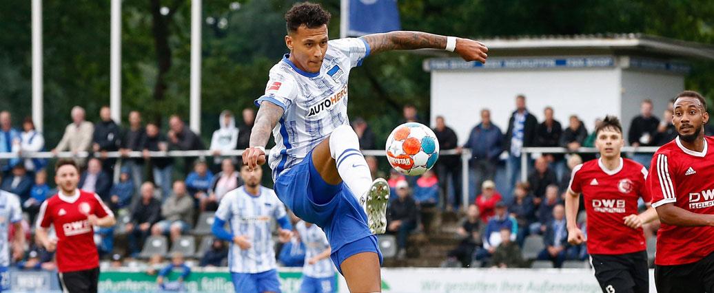 Hertha BSC: Davie Selke nach Rippenbruch zurück im Teamtraining