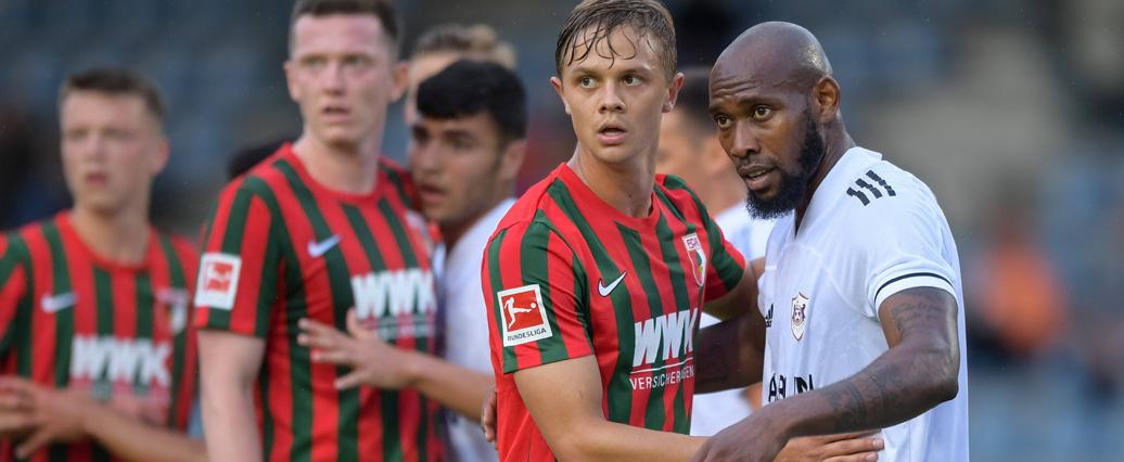 FC Augsburg: Robert Gumny verpasste Generalprobe angeschlagen